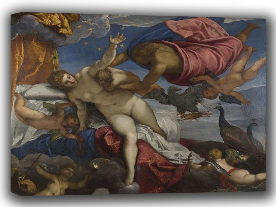 Tintoretto, Jacopo Robusti: The Origin of the Milky Way. Fine Art Canvas. Sizes: A4/A3/A2/A1 (001997)